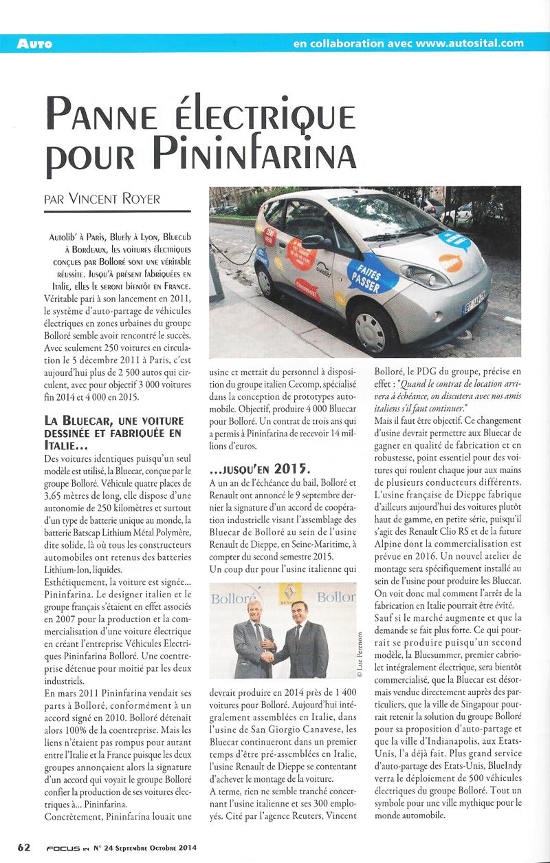 Panne électrique pour Pininfarina - Focus In 24